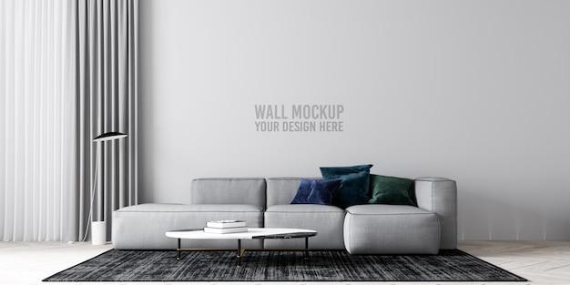 Maqueta de papel tapiz de sala de estar interior