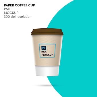 Maqueta de papel de taza de café