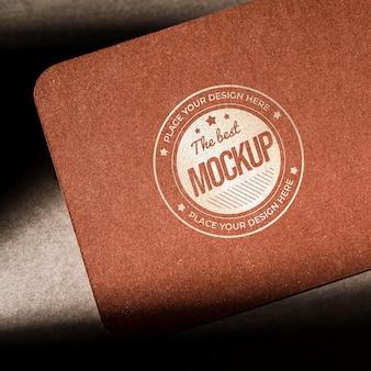 Maqueta de papel con textura de tarjeta de visita