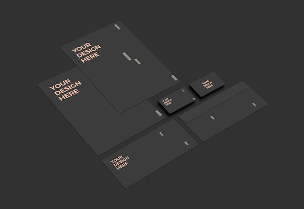 Maqueta de papelería moderna