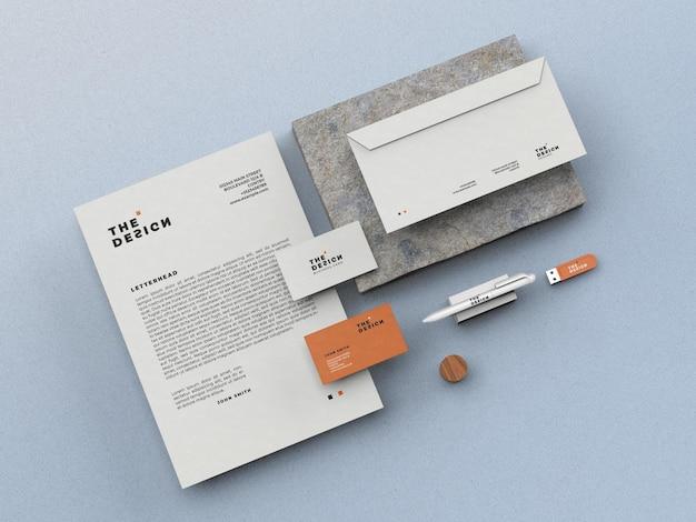 Maqueta de papelería simple
