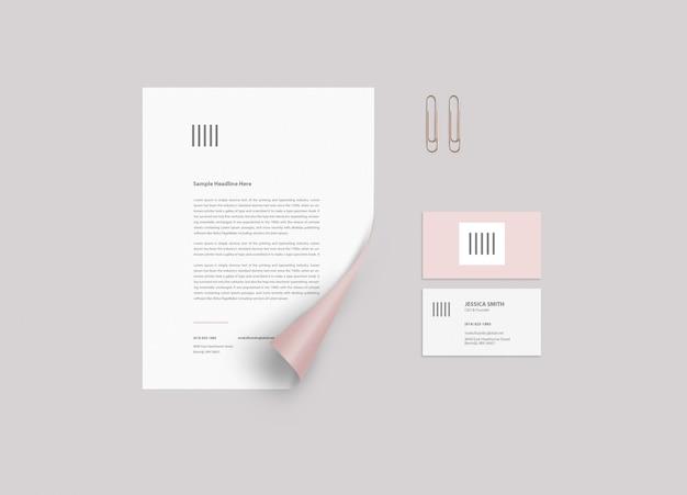 Maqueta de papeleria