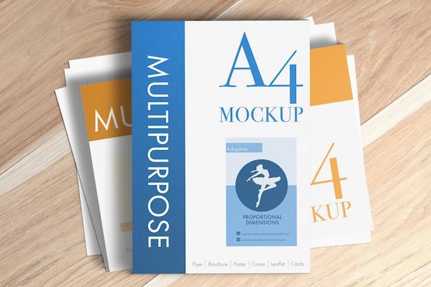 Maqueta de papeles a4 multipropósito
