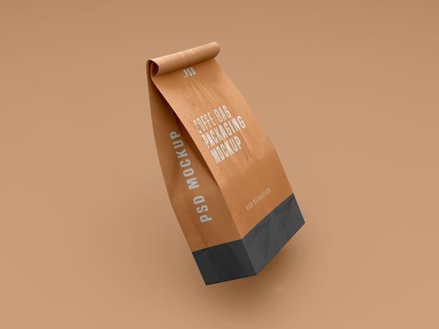 Maqueta de paquete de bolsa de café
