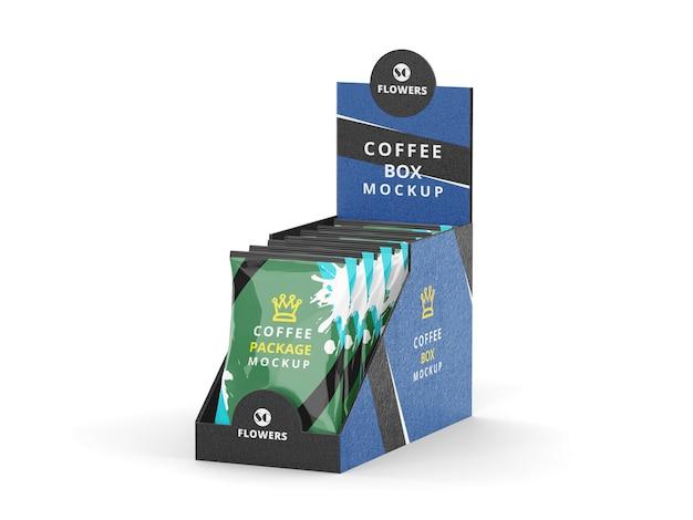 Maqueta de paquete de café
