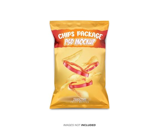 Maqueta de paquete de chips