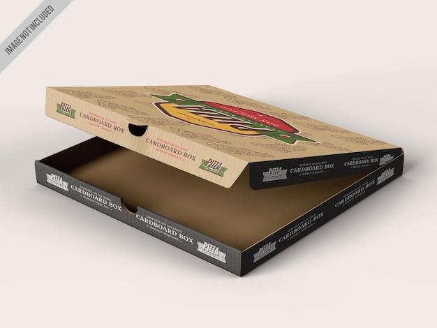 Maqueta de paquete de entrega de pizza