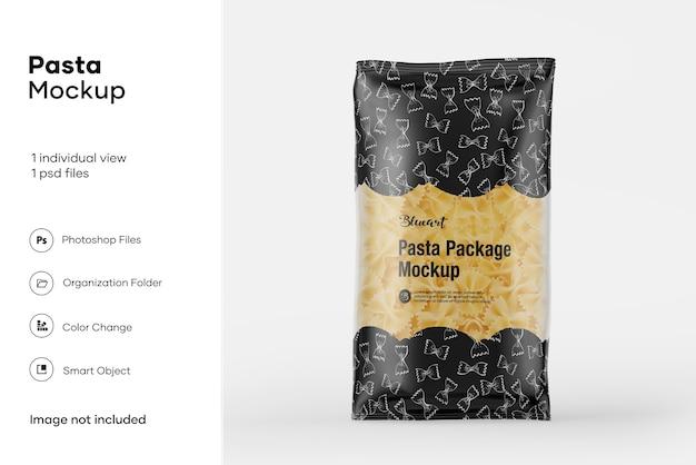 Maqueta de paquete de pasta