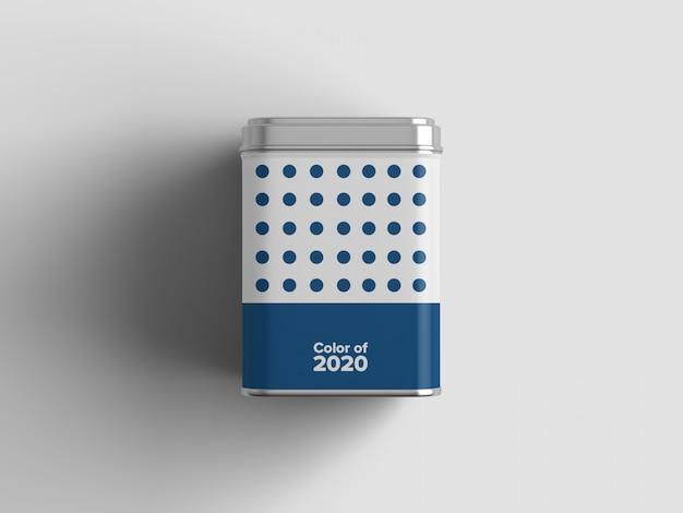 Maqueta de paquete de té