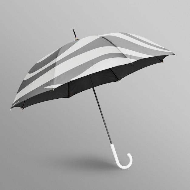 Maqueta de paraguas blanco y negro