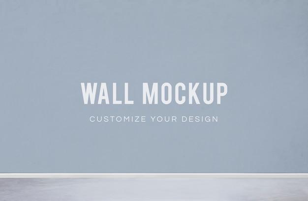 Maqueta de pared en blanco