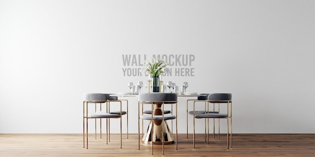 Maqueta de pared de comedor interior