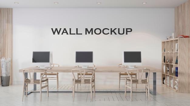 Maqueta de pared de diseño de oficina de estilo moderno