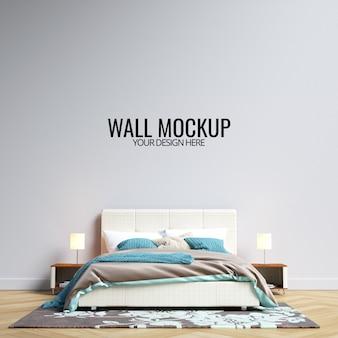 Maqueta de pared de dormitorio interior