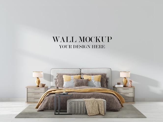 Maqueta de pared de dormitorio de lujo moderno