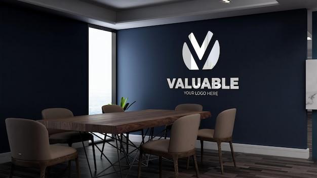 La maqueta de la pared del espacio de reunión.