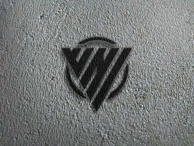 Maqueta de pared de estilo 3d