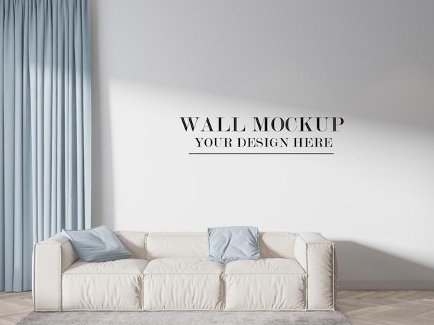 Maqueta de la pared de la habitación detrás del sofá