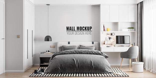 Maqueta de pared interior de dormitorio infantil
