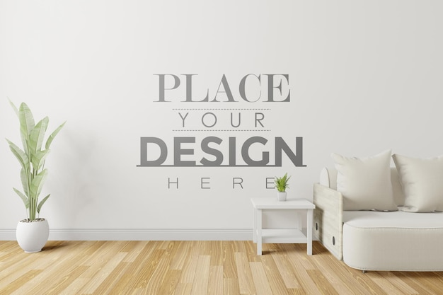 Maqueta de pared interior de sala de estar moderna