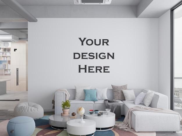 Maqueta de pared de oficina moderna interior