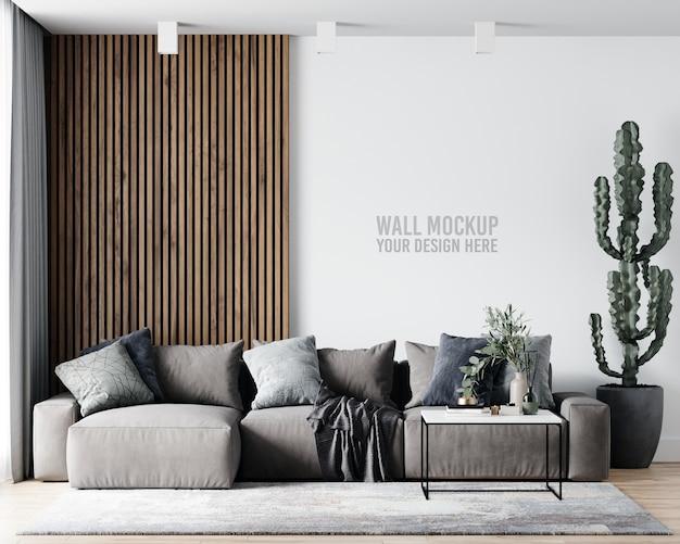 Maqueta de pared de sala de estar interior