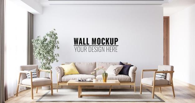 Maqueta de la pared de la sala de estar interior