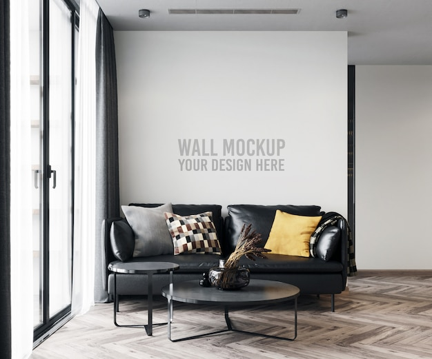 Maqueta de pared de sala de estar