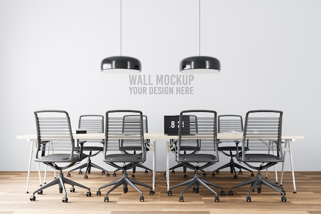 Maqueta de pared de sala de reuniones interior