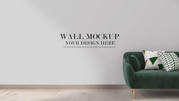Maqueta de pared vacía interior de renderizado 3d para sus texturas