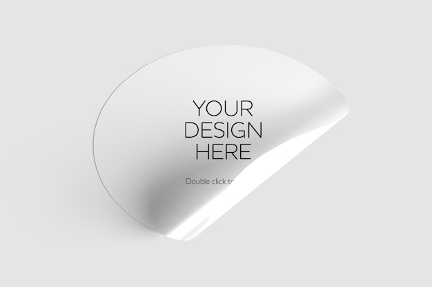 Maqueta de pegatinas sobre un fondo blanco renderizado 3d
