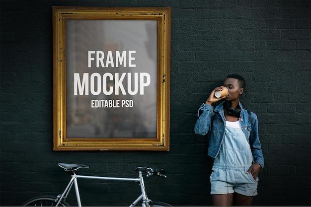 Maqueta de photoshop de marco de imagen