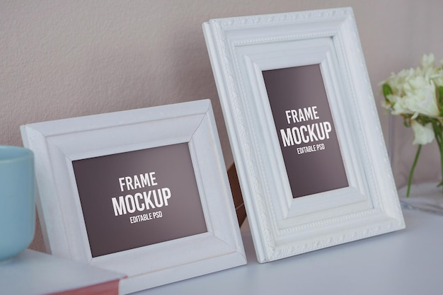 Maqueta de photoshop para marcos de fotos