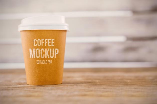 Maqueta de photoshop de taza de café
