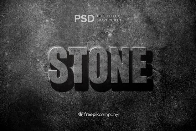 Maqueta de piedra con efecto de texto