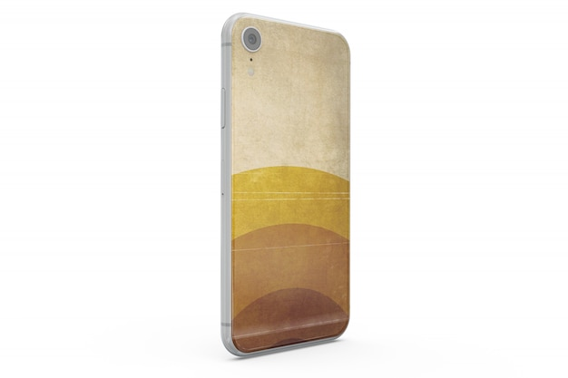 Maqueta de piel de smartphone aislada