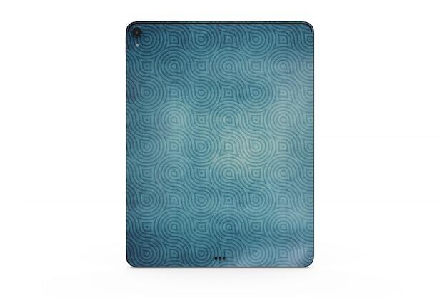 Maqueta de piel de tableta aislada