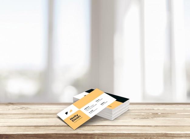 Maqueta de pila de tarjetas de visita