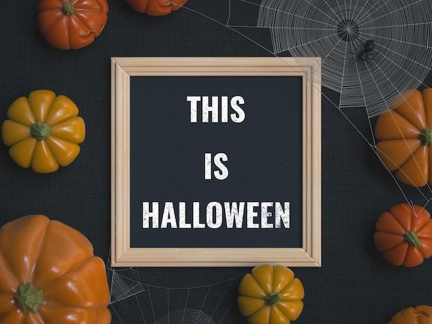 Maqueta de pizarra de halloween