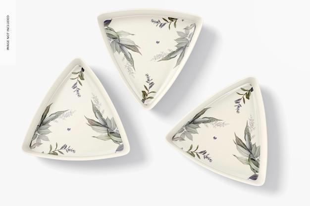 Maqueta de placa triangular de cerámica, vista superior