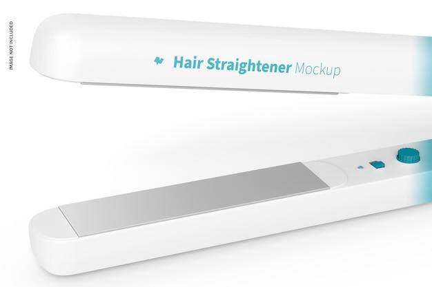 Maqueta de plancha de pelo, primer plano