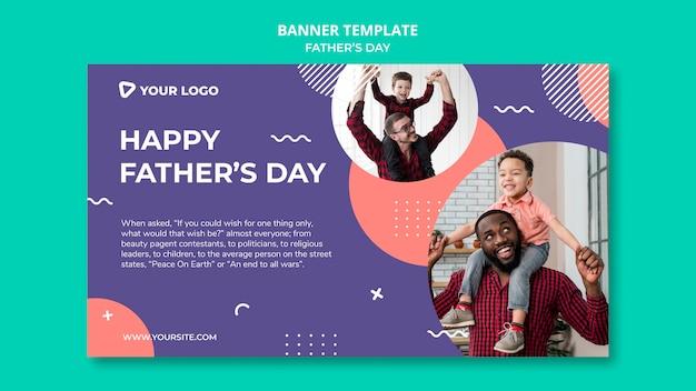 Maqueta de plantilla de banner de concepto de feliz día del padre