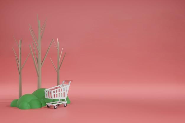 Maqueta de plantilla de espacio vacío de renderizado 3d para colocación de productos