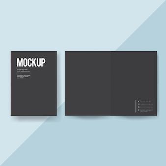 Maqueta de plantilla de folleto de papel en blanco
