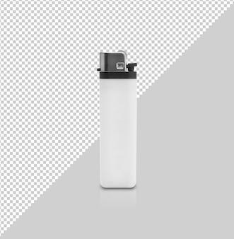Maqueta de plástico blanco para encendedor de gas
