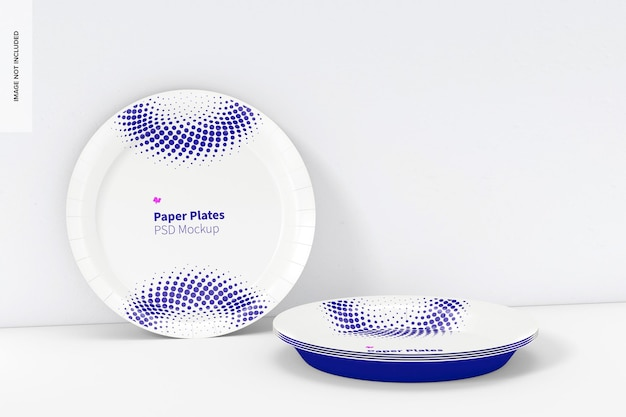 Maqueta de platos de papel
