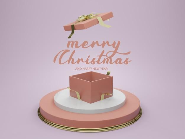 Maqueta de podio de plantilla vacía de navidad