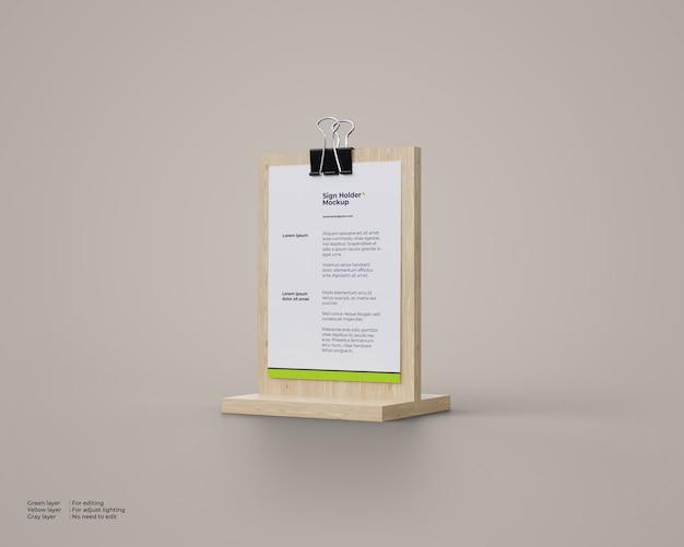 Maqueta de porta carteles de madera