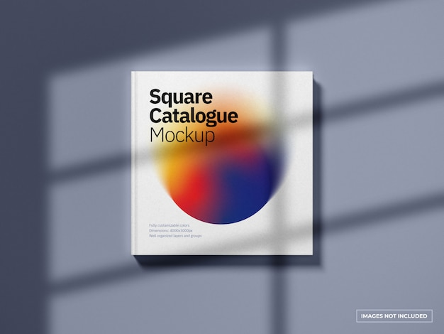 Maqueta de portada de catálogo cuadrado