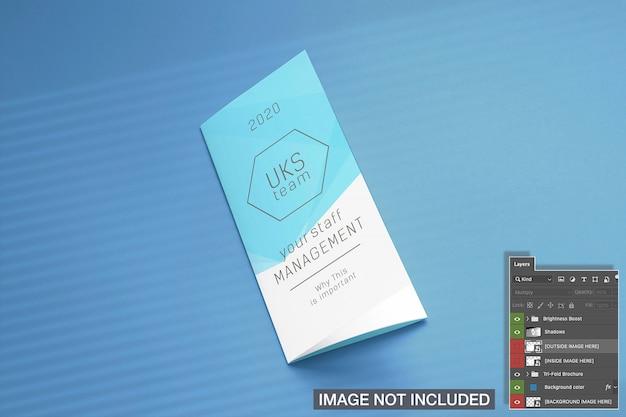 Maqueta de portada de folleto tríptico cerrado